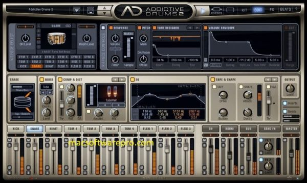 Addictive Drums 2.2.0 Crack Mac OS X