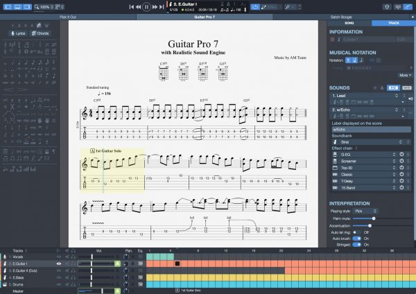 Guitar Pro 7.5.4 with Crack Mac Full Torrent free Download