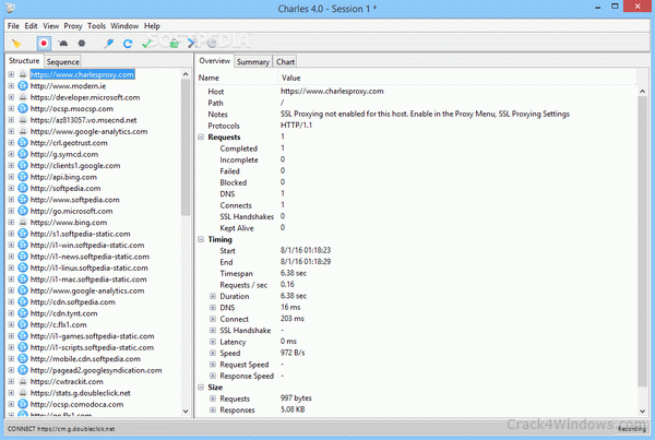 Charles Proxy 4.6.1 Full Crack with Key Download [Mac]